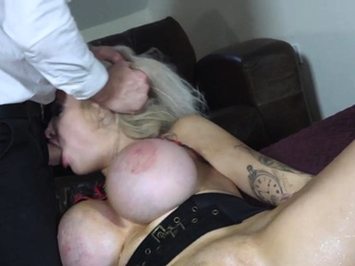 Submissive with huge fake knockers