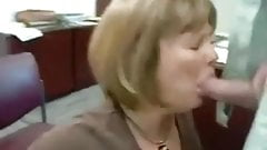 Real secretary eats cum from her boss