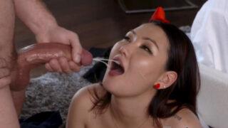 Asian student sucking dick