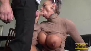 Busty UK Brooke Jameson rough fucked by Pascal